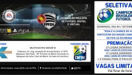 Seletivas | Inscrições Campeonatos Paulista e Brasileiro FIFA 16
