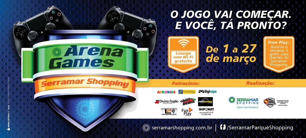 Imagem/Divulgação: Evento ARENA GAMES SERRAMAR SHOPPING / FPFDV.