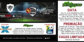 Inscrições 33º WE CRAZY CUP | PES 2016