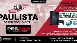 Inscrições 1º CAMPEONATO PES 2018 ARENA GAMER SUPER SHOPPING OSASCO | Inscreva-se já!