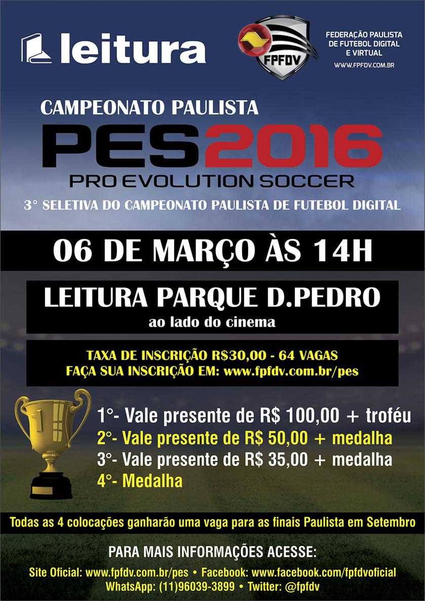 Imagem/Divulgação: Campeonato Paulista de Futebol Digital | Etapa Livraria LEITURA.
