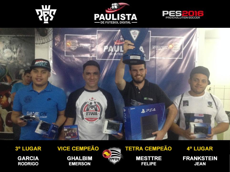 Grande Final | Campeonato Paulista PES 2016 | Felipe Mestre Tetra Campeão Estadual.